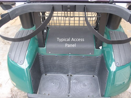small resolution of  differential area access hatch over electric golf cart motor