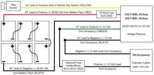 Golf Cart Voltage Reducer 2660V to 12 Volt  30 Amp