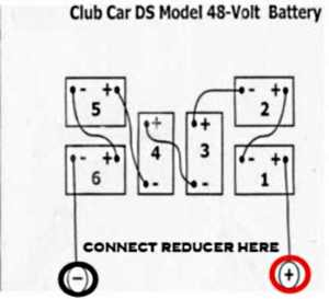 Where to hook up 48v to 12v voltage reducer converter Club