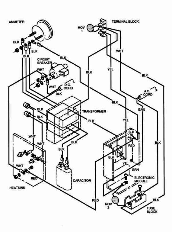 EZGO Total Charge III 3 Wiring Diagram Image For 1991-2001