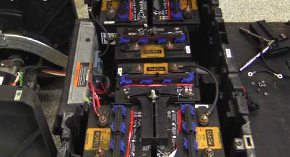 club car 48 volt wiring diagram 3 gang one way switch video on how to replace precedent golf cart batteries 8 total