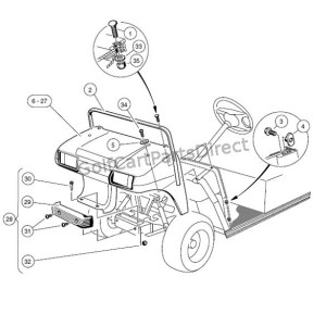 FRONT BODY AND TRIM – CARRYALL 1  Club Car parts