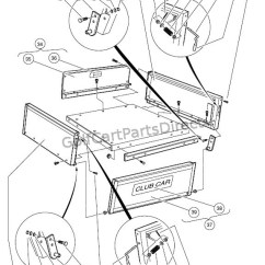 Club Car Ignition Wiring Diagram Airport Instrument Legend Cargo Box – Turf/carryall 2, 252, 2 Xrt, And Plus - Parts & Accessories