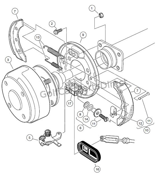 BRAKES – REAR BRAKE ASSEMBLY, SELF-ADJUSTING
