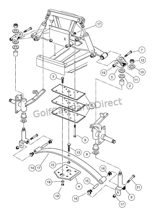 Yamaha Golf Cart Rear End Parts Diagram, Yamaha, Free