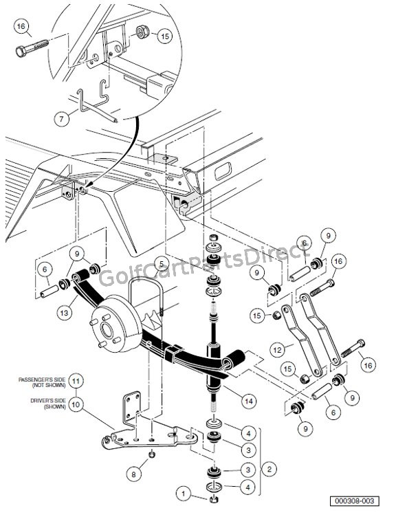 yamaha pacifica 112v wiring diagram 1991 toyota pickup alternator automotive circuit rear suspension ponents u2013 turf carryall 252 and 2 xrt