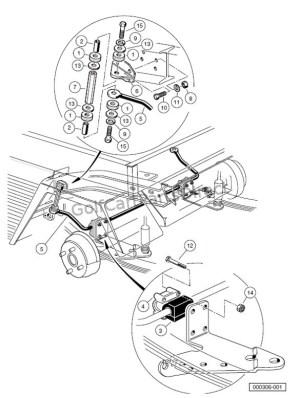 STABILIZER BAR TURFCARRYALL 252 AND 2 XRT  Club Car