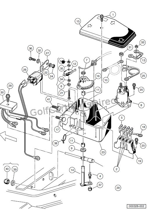 fan light kit wiring diagram 1998 mitsubishi lancer electrical component box- gasoline carryall 6 - club car parts & accessories