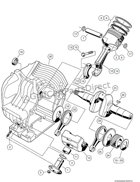 club car kawasaki engine parts