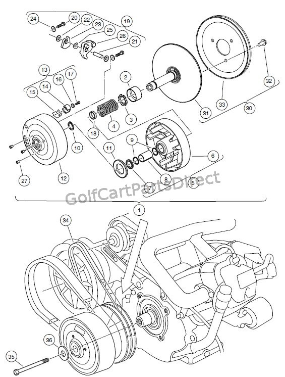 yamaha golf cart wiring diagram pioneer avh p4000dvd 2 2000 2005 carryall 1 6 by club car parts accessories drive clutch turf 2xrt and 252