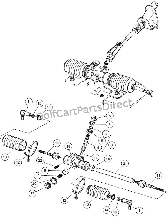 Golf Cart Steering Components Diagram