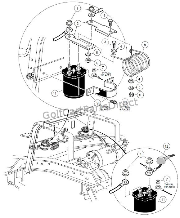 1998 Club Car Power Drive Wiring Diagram 48 Volt