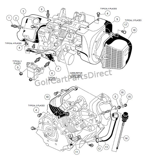 98 ez go wiring diagram crf50 cdi 1998 club car engine parts great installation of 1999 ds gas or electric 99