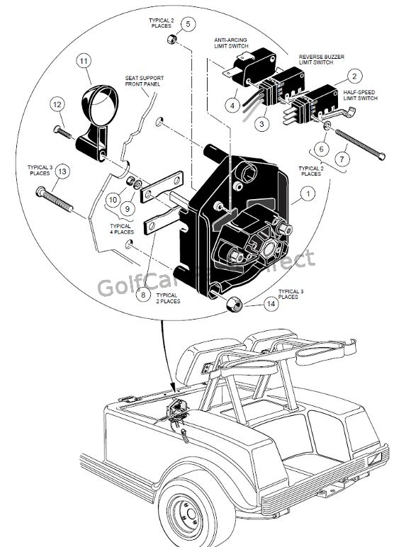 ezgo wiring diagram gas golf cart sony xplod deck forward/reverse switch - 48v club car parts & accessories