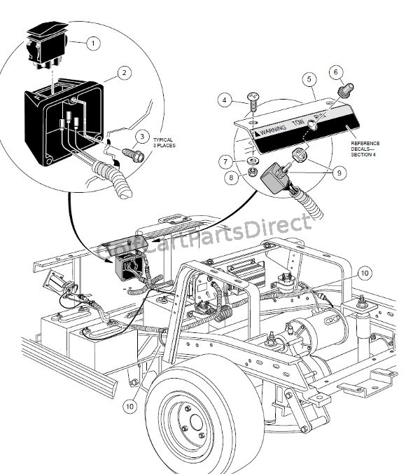 Ingersoll Rand Golf Cart Wiring Diagram Forward Reverse Switch Powerdrive Plus Club Car Parts