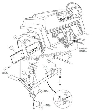 BRAKE PEDAL ASSEMBLY  Club Car parts & accessories