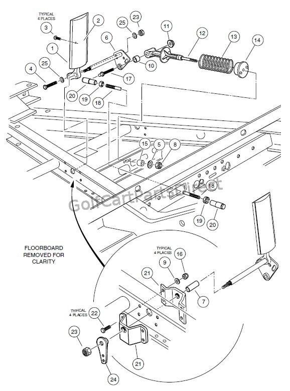 club car throttle cable diagram