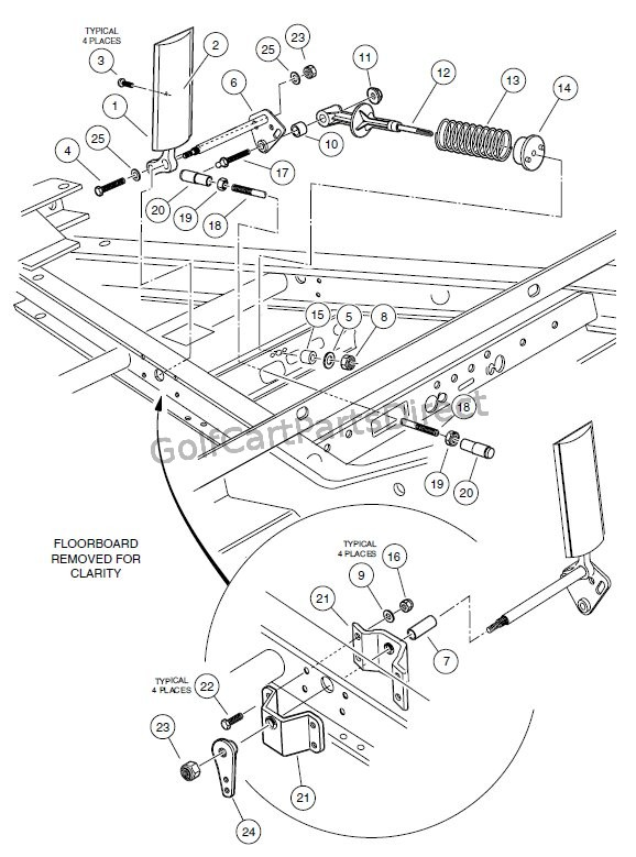 yamaha g29 golf cart wiring diagram for electronic ballast accelerator pedal assembly - club car parts & accessories