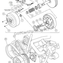 Ezgo Windshield 2005 Chevy Silverado Wiring Diagram Drive Clutch - Club Car Parts & Accessories