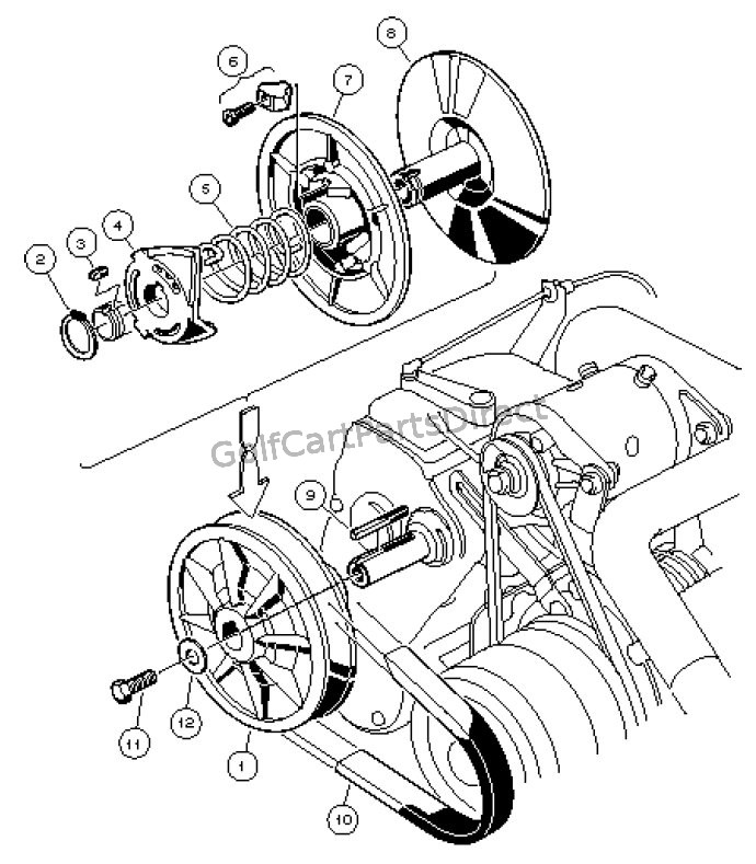 2000 Yamaha Golf Cart Wiring Diagram Driven Clutch Club Car Parts Amp Accessories