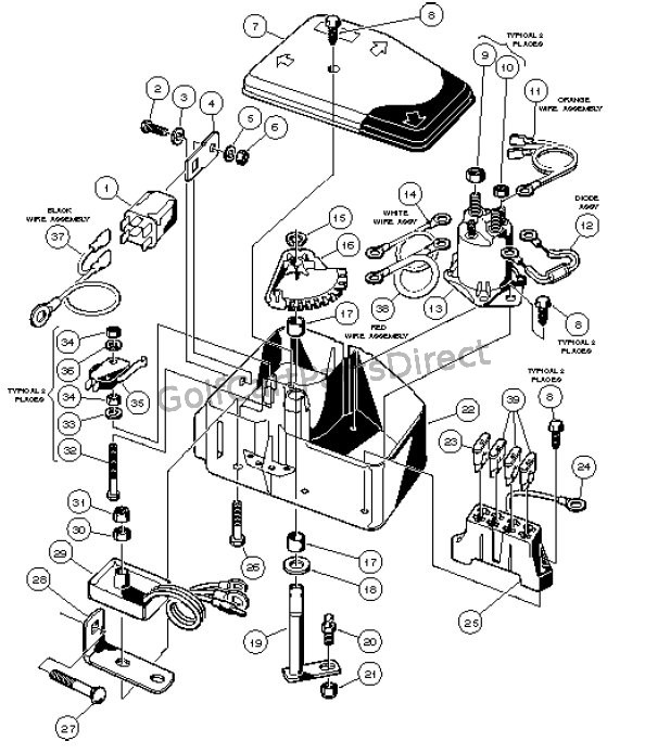 Yamaha G9 Gas Golf Cart Wiring Diagram, Yamaha, Free
