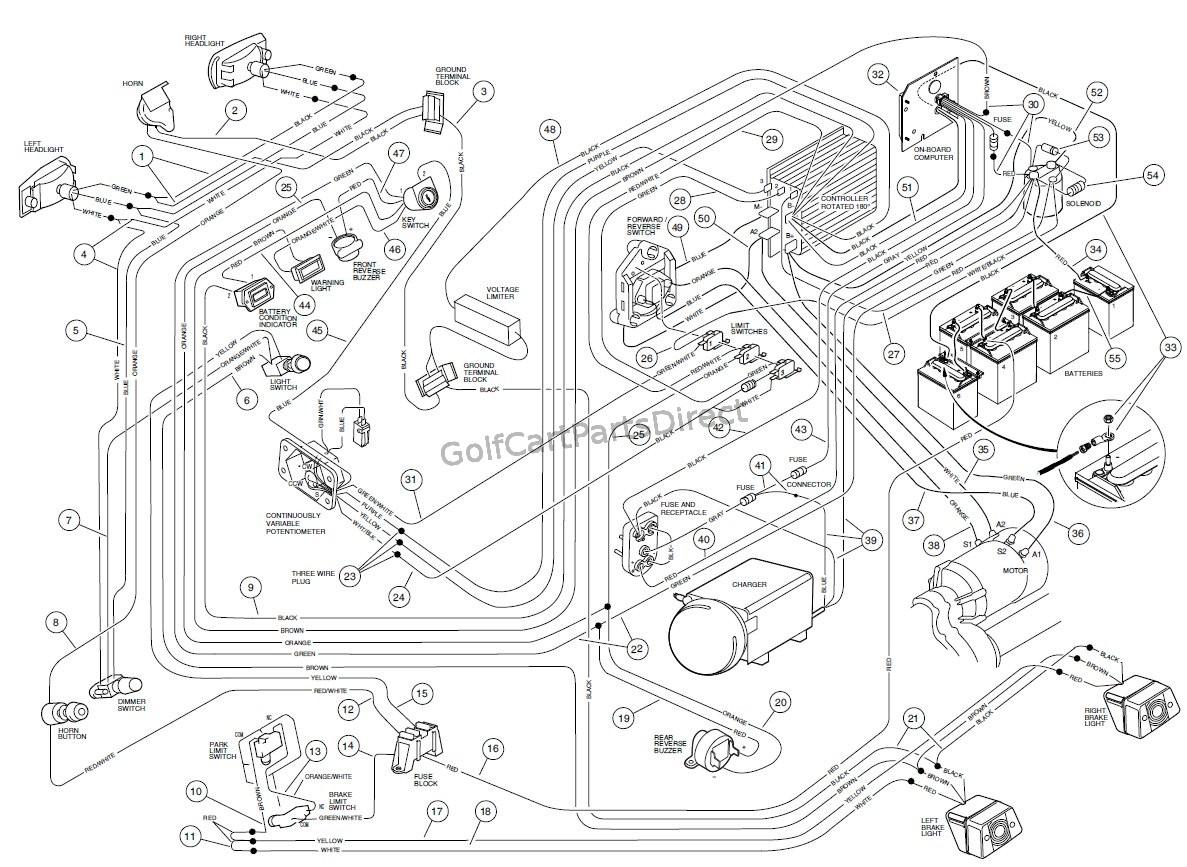 1990 club car wiring diagram 48 volt