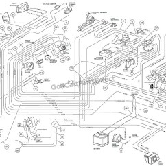 1994 36v Club Car Wiring Diagram Duncan Kiln Ezgo Battery Light System Model