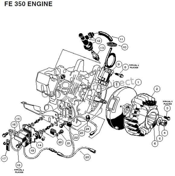FE 350 Engine - Carryall 2 plus and 6