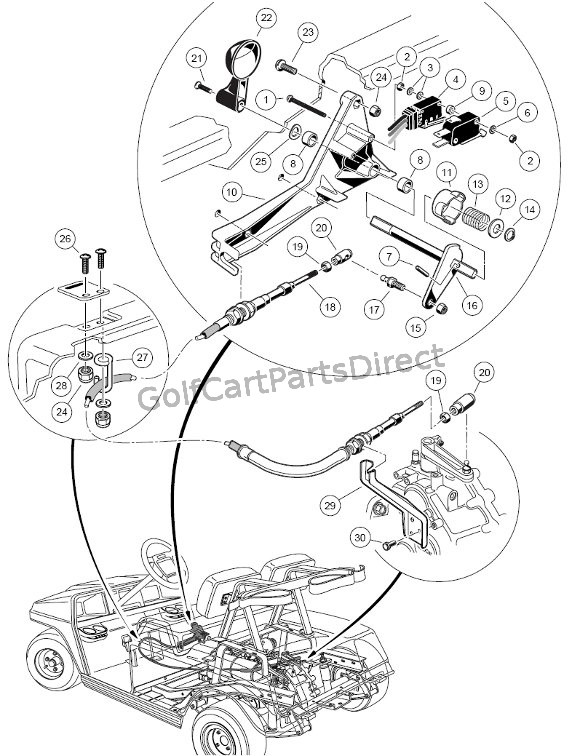 36v club car wiring diagram 1999 honda civic ac 1998-1999 ds gas or electric - parts & accessories