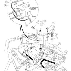 Wiring Diagram For Club Car Golf Cart 1998 Mitsubishi Montero Sport 1998-1999 Ds Gas Or Electric - Parts & Accessories