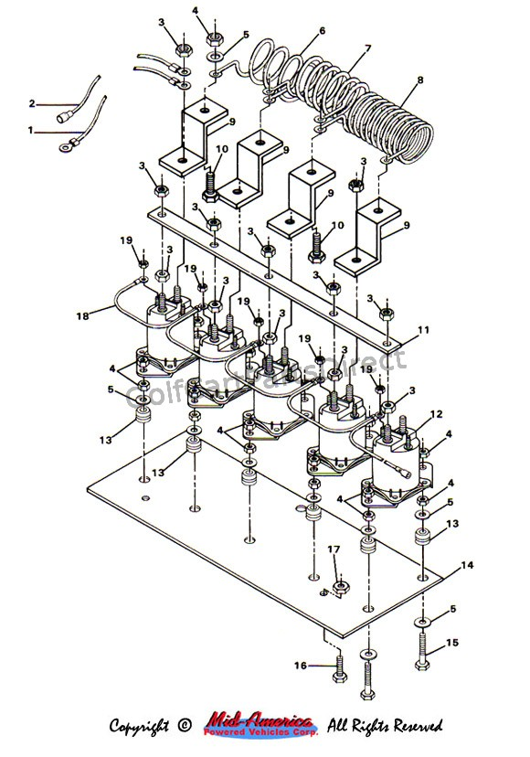 36v club car wiring diagram solenoid and resistor assy. - parts & accessories