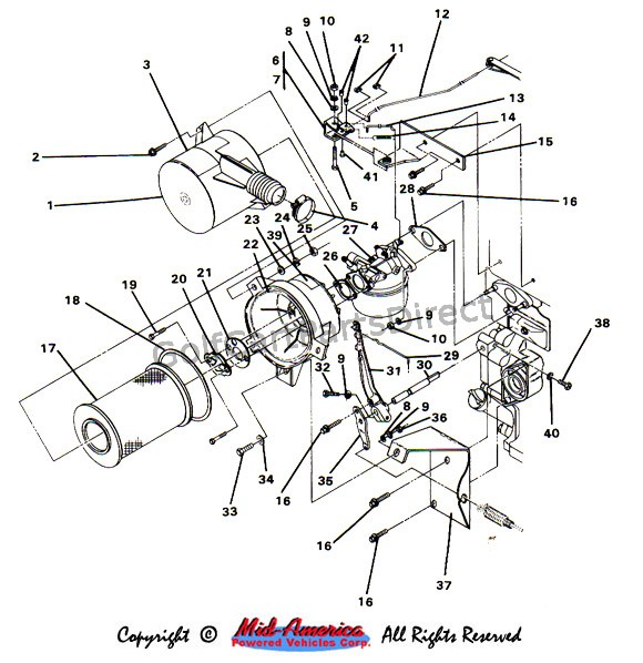 1988 36v club car wiring diagram fiero 1984-1991 ds gas - parts & accessories