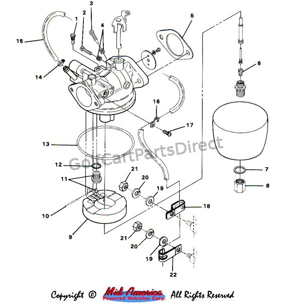 1989 Ezgo Gas Wiring Diagram 1989 E-Z-GO Parts Diagram