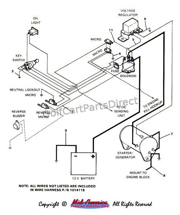 wiring diagram for 1984 ezgo golf cart