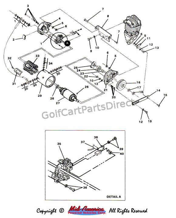 wiring diagram for club car starter generator citroen c5 2005 1984-1991 ds gas - parts & accessories