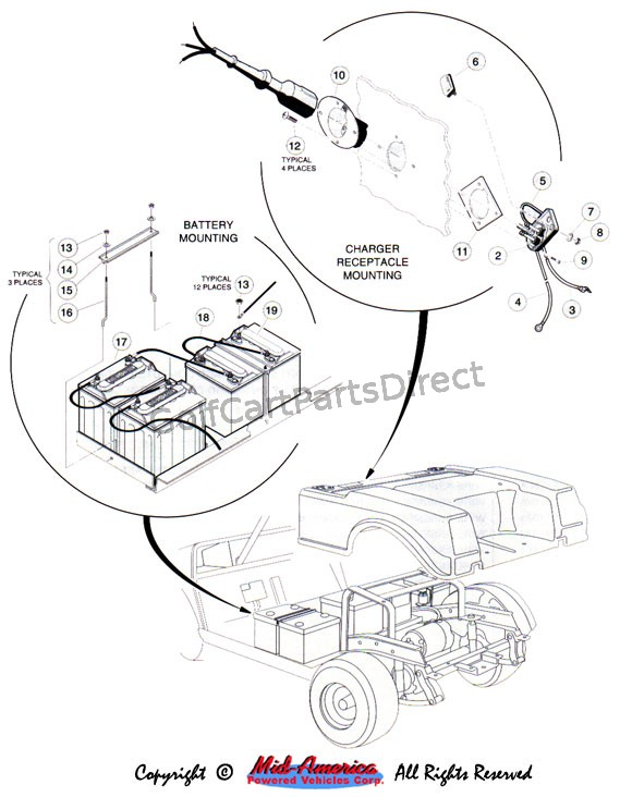 wiring diagram for 1996 gas club car golf cart dol motor control 1992-1996 ds or electric - parts & accessories