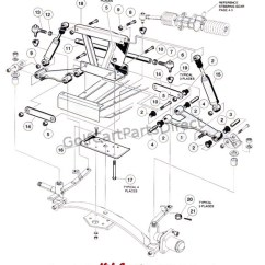 Yamaha Electric Golf Cart Wiring Diagram 1994 Sportster 1200 Front Suspension - Upper Club Car Parts & Accessories