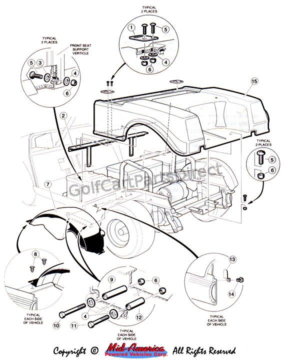 1992 club car parts diagram