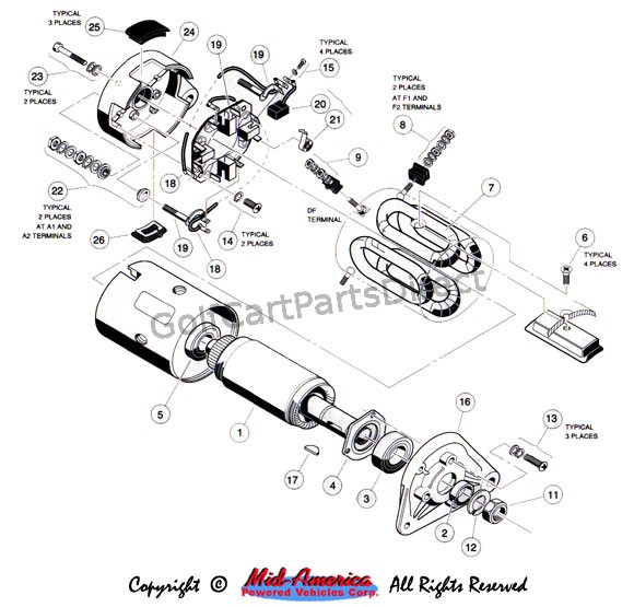 club car wiring diagram 36v 7 pin trailer plug wire 1992-1996 ds gas or electric - parts & accessories