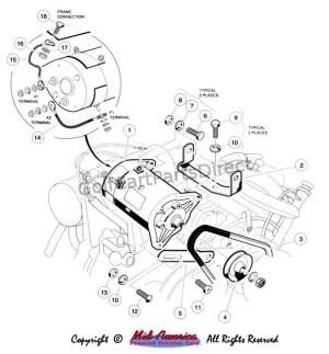 Starter  Generator Mount  Club Car parts & accessories