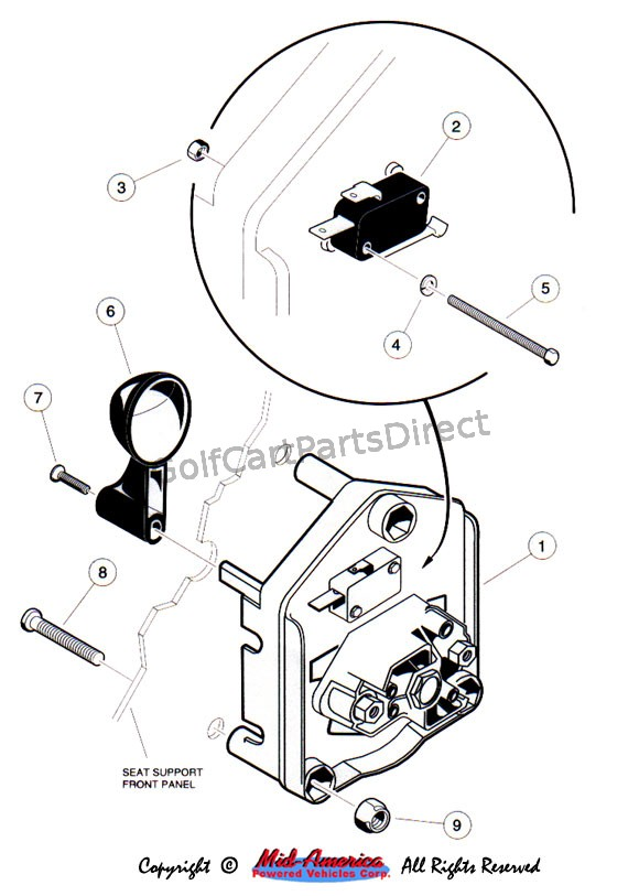1992 club car ds gas wiring diagram vw 1600 engine 1992-1996 or electric - parts & accessories