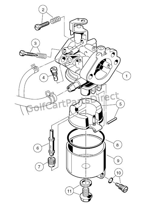 yamaha golf cart engine diagram 240v heater wiring 1997 club car gas ds or electric - parts & accessories