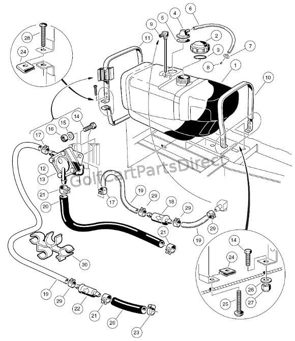 94 Club Car Golf Cart Wiring Diagram Fuel System Club Car Parts Amp Accessories