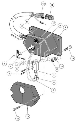 Potentiometer  48V  Powerdrive & Powerdrive Plus  Club Car parts & accessories