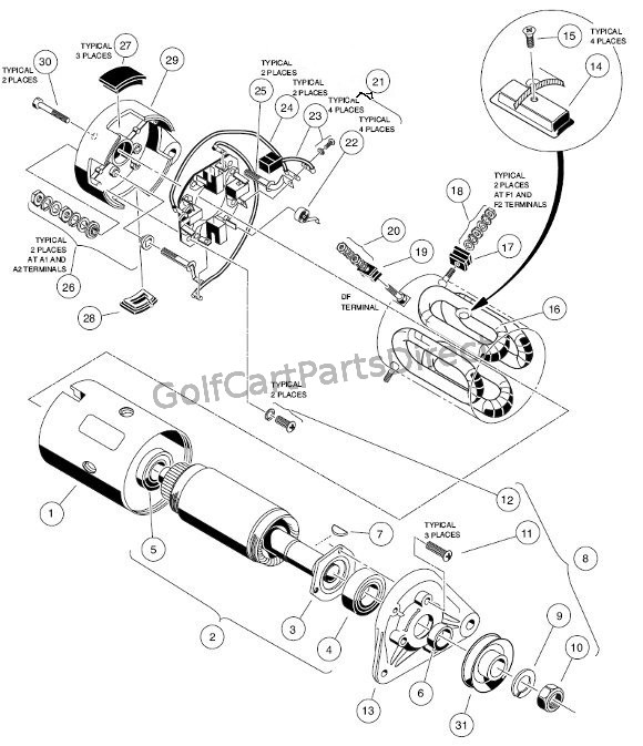 1998 Club Car Starter Generator Wiring Diagram : 46 Wiring
