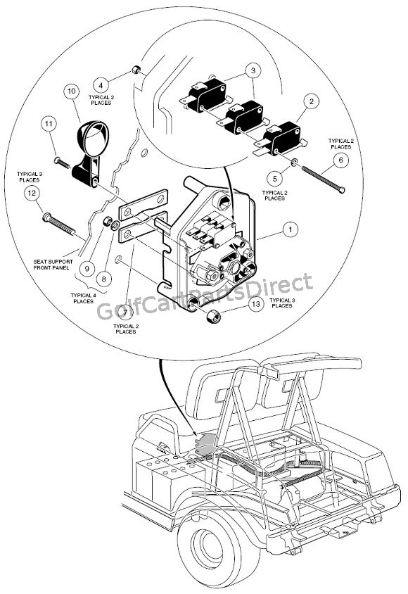 wiring diagram for club car golf cart white rodgers thermostat 1f86 344 forward/reverse switch - 48v parts & accessories