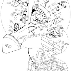 Golf Cart 36 Volt Wiring Diagram Motor Starter 1997 Club Car Gas Ds Or Electric - Parts & Accessories