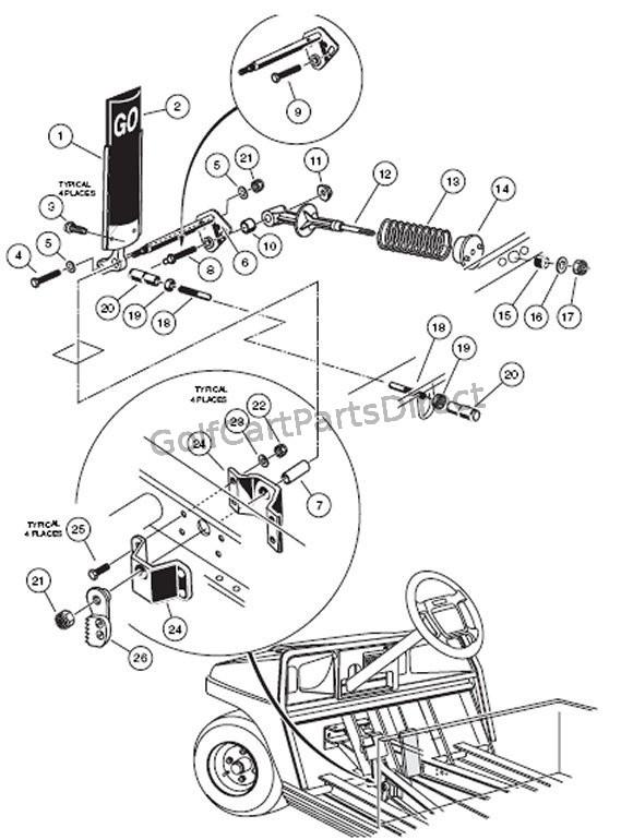 2000 Club Car Carry All Golf Cart Battery Wiring Diagram