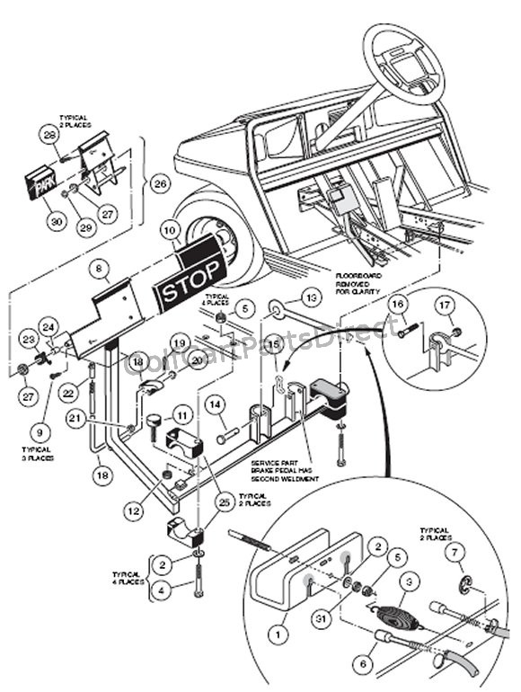 club car golf cart headlight wiring diagram yamaha solenoid lighting schematic 2003 and tail light online ignition