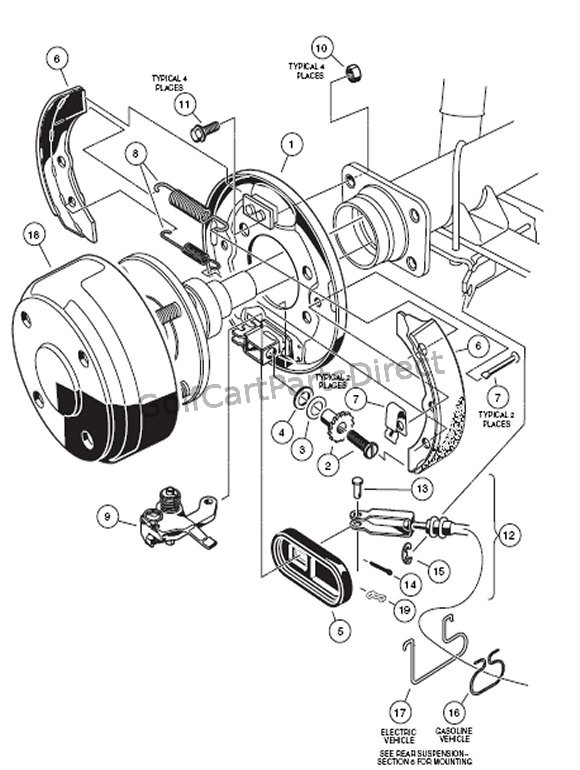 Wiring Diagram: 29 Club Car Parts Diagram Front End